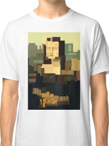 Mona Lisa (Gioconda) simplified  Classic T-Shirt