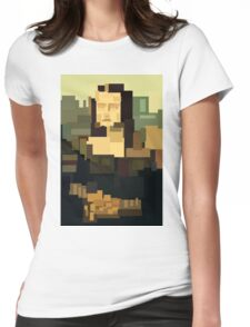 Mona Lisa (Gioconda) simplified  Womens Fitted T-Shirt