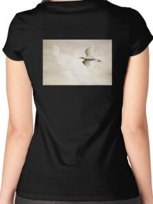 Egret In The Sky Women's Fitted Scoop T-Shirt