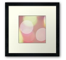 Pink circle nightclub disco lights bokeh abstract still life square Hasselblad medium format  c41 film analogue photo Framed Print