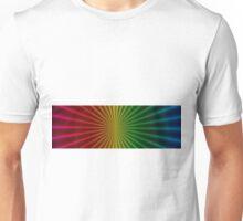 Rainbow Rays Panorama Unisex T-Shirt