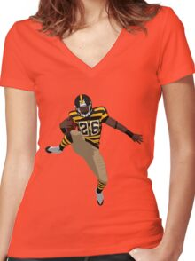 Le'Veon Leap Women's Fitted V-Neck T-Shirt