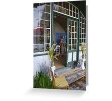 Artist's Studio from Cottage Entrance Greeting Card