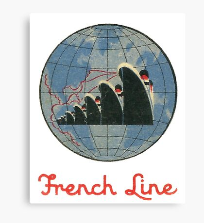 French Line Steamship Canvas Print
