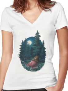 Lovely, Dark, and Deep Women's Fitted V-Neck T-Shirt