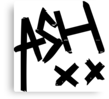 Ashton Irwin (Ash xx signature) Canvas Print