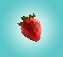 Polygon Strawberry by scarriebarrie