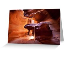 Beam of Antelope sand Greeting Card