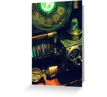 Steampunk Time Machine 1.0 Greeting Card