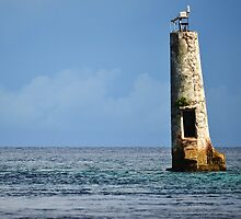 Abandoned Lighthouse in Palau by Randy Richards