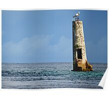 Abandoned Lighthouse in Palau Poster