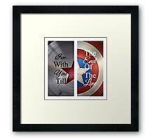 Stucky quote Framed Print