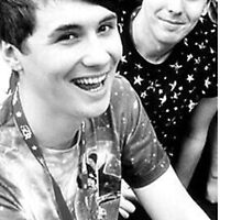 Dan and Phil, Black and White. by jonnarogers