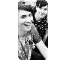 Dan and Phil, Black and White. iPhone Case/Skin