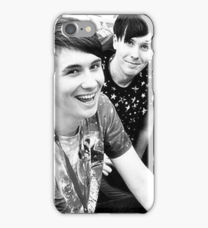 Dan and Phil (b&w) iPhone Case/Skin