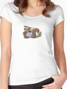 Mushrooms and succulents Women's Fitted Scoop T-Shirt