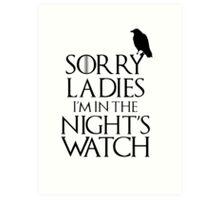 In The Night Watch Art Print