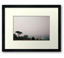 A misty day in Big Sur Framed Print