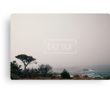 A misty day in Big Sur Canvas Print