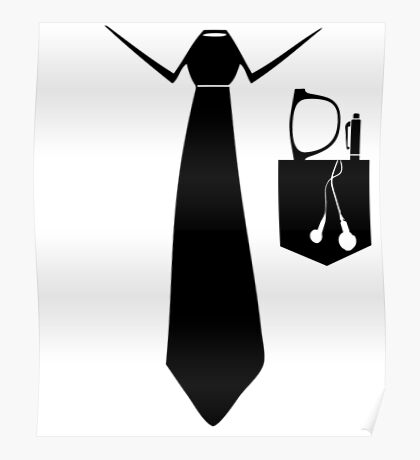 Cool Tie and Pocket Design Poster