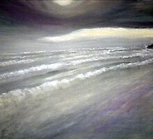 Storm on Cox Bay (Vancouver Island, British Columbia, Canada) (2005) by Penny Vogan