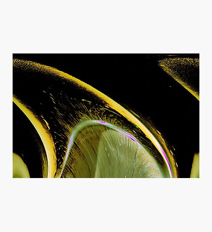 Wedge an abstract resembling a lemon wedge Photographic Print