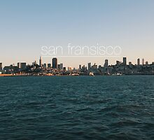 San Fransisco sunset skyline by nicklaslarka
