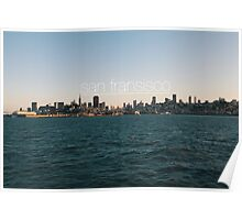 San Fransisco sunset skyline Poster