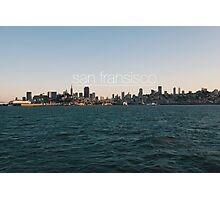 San Fransisco sunset skyline Photographic Print