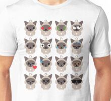 Birman Cat Emoji Different Facial Expression Unisex T-Shirt