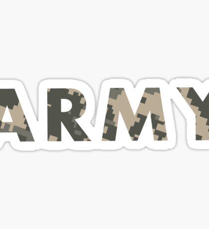 Army Camo Sticker
