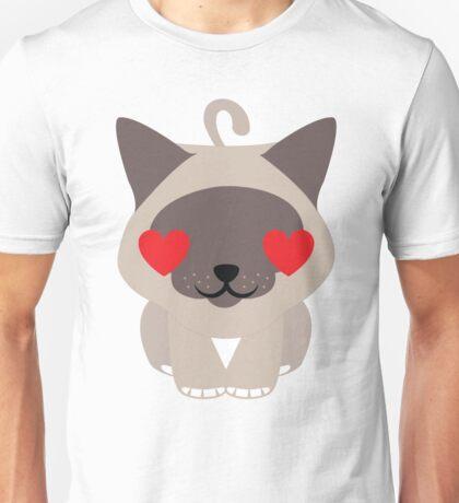 Birman Cat Emoji Heart and Love Eyes Unisex T-Shirt