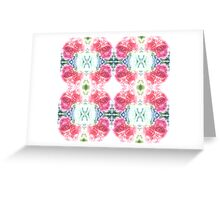 Bed of Pink Red Roses Greeting Card