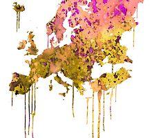 Europe by Watercolorsart