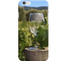 Wine glass on a log iPhone Case/Skin