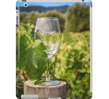 Wine glass on a log iPad Case/Skin