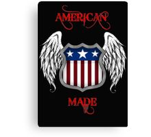 American Made (Black) Canvas Print