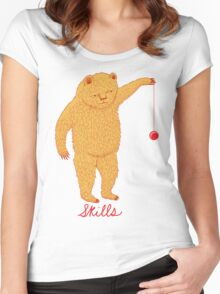 Skills Bear with Yoyo Women's Fitted Scoop T-Shirt