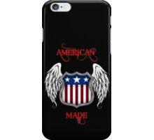 American Made (Black) iPhone Case/Skin