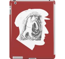 News guy profile with a wolfman iPad Case/Skin
