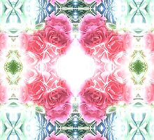 Bed of Pink Red Roses by Malinda @ Cherrytwiss Art & Fashion House