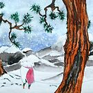 Man in the snow by George Hunter