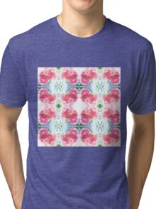 Bed of Pink Red Roses Tri-blend T-Shirt