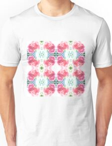 Bed of Pink Red Roses Unisex T-Shirt