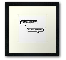 I Solemnly Swear- Mischief Managed Pixel Bubble Framed Print