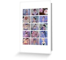 French Belles and Roses Collage Greeting Card