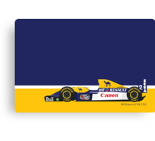 1993 Williams FW15C Formula 1 race car piloted by Alain Prost and Damon Hill Canvas Print