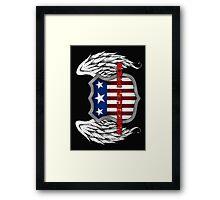 American Pride (Black) Framed Print