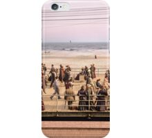 Along the beach, Atlantic City, NJ 1905 Colorized iPhone Case/Skin