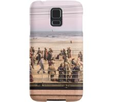 Along the beach, Atlantic City, NJ 1905 Colorized Samsung Galaxy Case/Skin